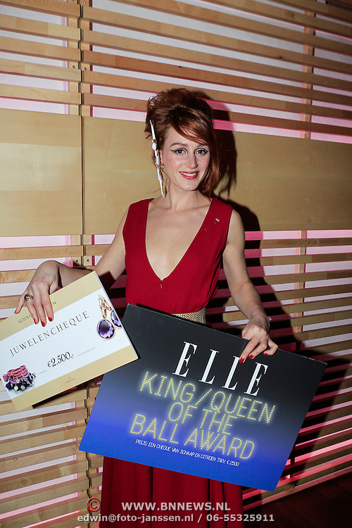 NLD/Amstrdam/20130122 - Elle Style Award  2013, Eva Bartels wint de Queen of the Ball Award
