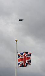 © Licensed to London News Pictures. 9th May 2013. Location. C17 Aircraft carrying the three coffins lands at RAF Brize Norton. REPATRIATION of Cpl William Savage and Fusilier Samuel Flint from the Royal Highland Fusiliers, the 2nd Battalion The Royal Regiment Of Scotland and Pte Robert Hetherington, of the 51st Highland, 7th Battalion - a Territorial Army member..Their Mastiff armoured vehicle was hit by a roadside device during a routine patrol in Helmand on 30 April.. Photo credit : MarkHemsworth/LNP