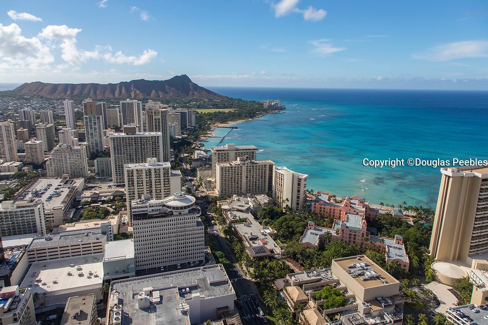 Waikiki, Honolulu, Oahu, Hawaii, aerial