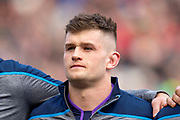 Magnus Bradbury (#6) of Scotland before the Guinness Six Nations match between Scotland and Wales at BT Murrayfield Stadium, Edinburgh, Scotland on 9 March 2019.