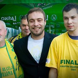 20110527: SLO, Handball - Dejan Peric signing a contract with RK Celje Pivovarna Lasko