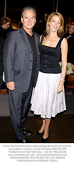 Actor TREVOR EVE and his wife actress SHARON MAUGHAN, at a party in London on 3rd October 2002.	PDT 259