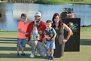 Arnold Palmer Invitational Champion 2017 Marc Leishman and Family, after the Final Round of the The Arnold Palmer Invitational Championship 2017, Bay Hill, Orlando,  Florida, USA. 19/03/2017.<br /> Picture: PLPA/ Mark Davison<br /> <br /> <br /> All photo usage must carry mandatory copyright credit (&copy; PLPA   Mark Davison)