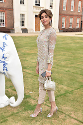 Saba Yussouf at the Concours d'éléphant in aid of Elephant Family held at the Royal Hospital Chelsea, London, England. 28 June 2018.