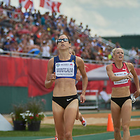 Noelle Montcalm wins the Women's 400m Hurdle Final ahead of Sarah Wells at the Athletics Canada 2016 Olympic Trials at Foote Field, Edmonton