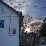 TAKOMA PARK, MD  - JAN 25: The VFW post in Takoma Park, Maryland, January 25, 2014. VFW Posts are dying all across the country but in the unlikely liberal haven of Takoma Park, the old VFW is showing signs of life. By throwing open the doors to private parties and concerts, the club is breaking even in spite of dwindling membership. Several times a month, the bar dwelling regular vets are sharing space with the bureaucrats, activists and peaceniks from the surrounding neighborhood. (Photo by Evelyn Hockstein/For The Washington Post)