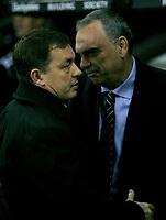 Photo: Steve Bond/Sportsbeat Images.<br />Derby County v Chelsea. The FA Barclays Premiership. 24/11/2007. Avram Grant (R) and Billy Davis (L)