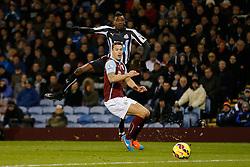 Sammy Ameobi of Newcastle United shoots - Photo mandatory by-line: Rogan Thomson/JMP - 07966 386802 - 02/12/2014 - SPORT - FOOTBALL - Burnley, England - Turf Moor Stadium - Burnley v Newcastle United - Barclays Premier League.