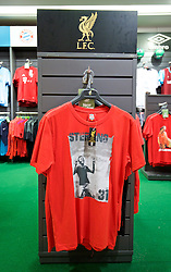 BANGKOK, THAILAND - Sunday, July 12, 2015: A Liverpool shirt featuring Raheem Sterling on sale at the Central World shopping mall ahead of the team's arrival in Thailand for the start of the club's preseason tour. (Pic by David Rawcliffe/Propaganda)