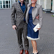 NLD/Amsterdam/20110618 - Amsterdamdiner 2011, Anita Witzier en partner Michel Nillesen