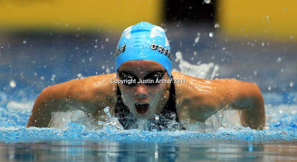 Bobbi Gichard competes in the girls 11 year old 50m butterfly event during the 2011  New Zealand Junior Swimming Championships, Day 1, Wellington Aquatics Centre, Kilbirnie, Wellington on Saturday, 19 February 2011. Photo: Justin Arthur/photosport.co.nz