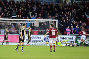 Northampton Town Defender Rod McDonald  scores during the Sky Bet League 2 match between Northampton Town and Morecambe at Sixfields Stadium, Northampton, England on 23 January 2016. Photo by Dennis Goodwin.