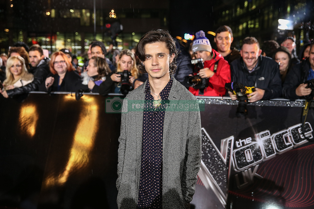 New host Kel Spelman poses on the red carpet before the Blind Auditions begin for the new series of  The Voice on ITV.