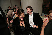Francesca Versace and Danny Moynihan, Party hosted by Larry Gagosian at Nobu, Berkeley St. London. 9 October 2007. -DO NOT ARCHIVE-© Copyright Photograph by Dafydd Jones. 248 Clapham Rd. London SW9 0PZ. Tel 0207 820 0771. www.dafjones.com.