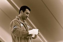 07.06.2011, Stanglwirt, Going, AUT, Wladimir Klitschko, Training, im Bild Wladimir Klitschko bindet sich die Hände ein, Bild wurde farblich verändert. EXPA Pictures © 2010, PhotoCredit: EXPA/ J. Groder