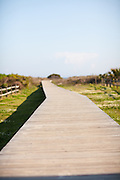Boardwalk pathway to the beach on Sullivan's Island, SC.