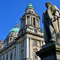 Robert McMordie Statue at City Hall in Belfast, Northern Ireland<br />