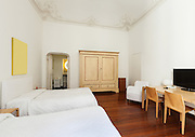 beautiful interior of hotel room, view bedroom