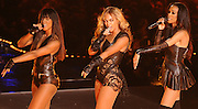 Beyonce performs during the Super Bowl XLVII halftime show at the Mercedes-Benz Superdome on February 3, 2013 in New Orleans.  UPI/XX