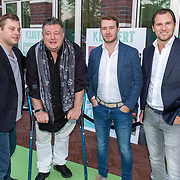 NLD/Amsterdam/20181005 - Benefietdiner Kluivert Dog rescue, oa Ruud Hiensch en zoon Duco en ........