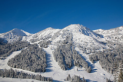 North America, United States, Washington, ski trails at Crystal Mountain