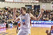 DESCRIZIONE : Campionato 2014/15 Virtus Acea Roma - Enel Brindisi<br /> GIOCATORE : Maxime De Zeeuw<br /> CATEGORIA : Schiacciata Ritratto Esultanza<br /> SQUADRA : Virtus Acea Roma<br /> EVENTO : LegaBasket Serie A Beko 2014/2015<br /> GARA : Virtus Acea Roma - Enel Brindisi<br /> DATA : 19/04/2015<br /> SPORT : Pallacanestro <br /> AUTORE : Agenzia Ciamillo-Castoria/GiulioCiamillo