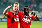 DEN HAAG - 30-10-2016, ADO Den Haag - AZ , Kyocera Stadion, 0-1, AZ speler Robert Muhren, AZ speler Derrick Luckassen