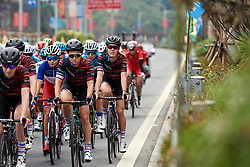 Rotem Gafinovitz (ISR) in the bunch at GREE Tour of Guangxi Women's WorldTour 2019 a 145.8 km road race in Guilin, China on October 22, 2019. Photo by Sean Robinson/velofocus.com