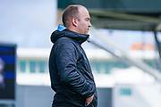 Nick Cushing of Manchester City Women (Manager) during the FA Women's Super League match between Manchester City Women and BIrmingham City Women at the Sport City Academy Stadium, Manchester, United Kingdom on 12 October 2019.