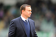 Plymouth Argyle manager Derek Adams before the Sky Bet League 2 match between Plymouth Argyle and Luton Town at Home Park, Plymouth, England on 19 March 2016. Photo by Graham Hunt.