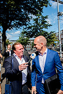 Gert-Jan Segers (ChristenUnie<br /> DEN HAAG - Gert-Jan Segers (ChristenUnie vertrekt bij Johan de Witthuis waar de onderhandelaars van VVD, CDA, D66 en ChristenUnie spreken met informateur Gerrit Zalm.  JULIA BRABANDER