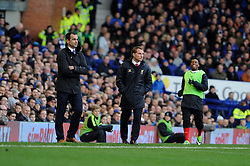 Liverpool Manager, Brendan Rodgers and Everton Manager, Roberto Martinez - Photo mandatory by-line: Dougie Allward/JMP - Tel: Mobile: 07966 386802 23/11/2013 - SPORT - Football - Liverpool - Merseyside derby - Goodison Park - Everton v Liverpool - Barclays Premier League