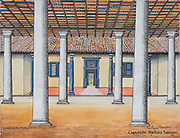 BARBARA SANSONI.<br /> Gunasena de Soysa House. Negombo 1963. Coloured for cover of Architecture of an Island