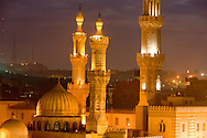 Egypt. Cairo elevated view.  - Al azhar mosque .  In old islamic Cairo  Cairo