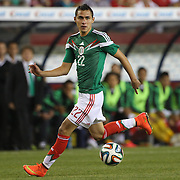 Paul Aguilar, Mexico, in action during the Portugal V Mexico International Friendly match in preparation for the 2014 FIFA World Cup in Brazil. Gillette Stadium, Boston (Foxborough), Massachusetts, USA. 6th June 2014. Photo Tim Clayton