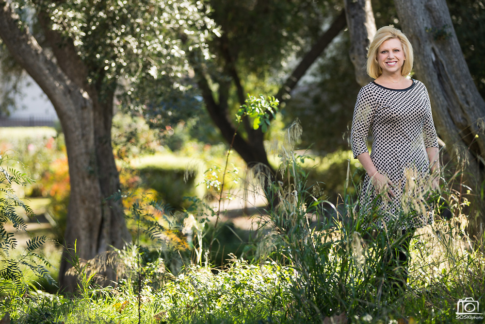 Rebecca Gilden poses for a portrait for Good Samaritan Hospital's Oncology & Radiology Annual Report in Los Gatos, California, on December 6, 2017. (Stan Olszewski/SOSKIphoto)