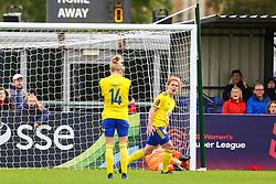 Sophie Baggaley of Bristol City saves a penalty from Aoife Mannion of Birmingham City Women - Mandatory by-line: Ryan Hiscott/JMP - 14/10/2018 - FOOTBALL - Stoke Gifford Stadium - Bristol, England - Bristol City Women v Birmingham City Women - FA Women's Super League 1