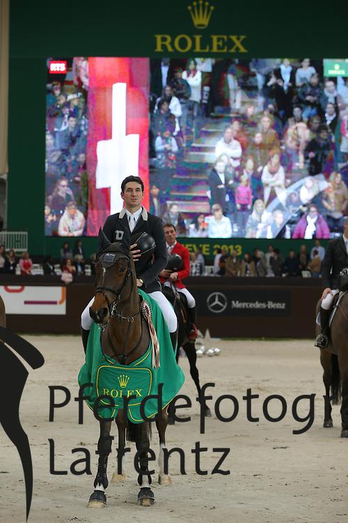 Guerdat, Steve Nino des Buissonnets<br /> Genf - Rolex Grand Slam 2013<br /> Finale, Rolex Grand Slam<br /> © www.sportfotos-lafrentz.de / Stefan Lafrentz