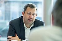 27 FEB 2019,  DAUERTHAL/GERMANY:<br />  Lars Klingbeil, MdB, SPD Generalsekretaer, waehrend einem Besuch der Enertrag AG, die im Bereich Erneuerbare Energien ein unabhaengiger Erzeuger von Energie aus Windenergie ist, Unternehmenszentrale  Dauerthal bei Prenzklau<br /> IMAGE: 20190227-02-059