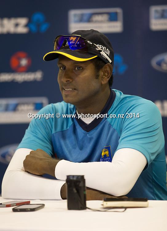 Angelo Mathews. Day 4, ANZ Boxing Day Cricket Test, New Zealand Black Caps v Sri Lanka, 29 December 2014, Hagley Oval, Christchurch, New Zealand. Photo: John Cowpland / www.photosport.co.nz
