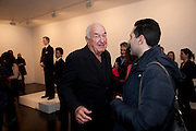 DON RUBELL; AMIR SHARIAT;, 'Engagement' exhibition of work by Jennifer Rubell. Stephen Friedman Gallery. London. 7 February 2011. -DO NOT ARCHIVE-© Copyright Photograph by Dafydd Jones. 248 Clapham Rd. London SW9 0PZ. Tel 0207 820 0771. www.dafjones.com.