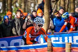 Lars VAN DER HAAR (27,NED) 2nd lap at Men UCI CX World Championships - Hoogerheide, The Netherlands - 2nd February 2014 - Photo by Pim Nijland / Peloton Photos