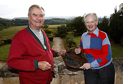 File photo - EXCLUSIVE. Prince Henrik of Denmark, along with Queen Margrethe, is seen in his vineyards around Caix Castle, in Caix, Cahors region, southwestern France, on September 27, 2007. The Prince came to France for a few days to start the wine harvest. The 25 hectares family estate produces about 160,000 bottles of 'Cahors' red and white wine which are also exported to Denmark, Canada and Japan. Prince Henrik, the French-born husband of Denmark's Queen Margrethe II, has died, the palace announced Wednesday. He was 83. Photo by Patrick Bernard/ABACAPRESS.COM