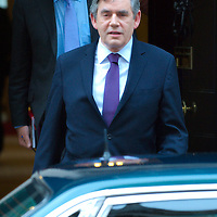 London June 8th Prime Minister Gordon Brown leaves n 10 for crucial talks at Westminster with the Labour Parliamentary Group...Standard Licence feee's apply  to all image usage.Marco Secchi - Xianpix tel +44 (0) 845 050 6211 .e-mail ms@msecchi.com .http://www.marcosecchi.com