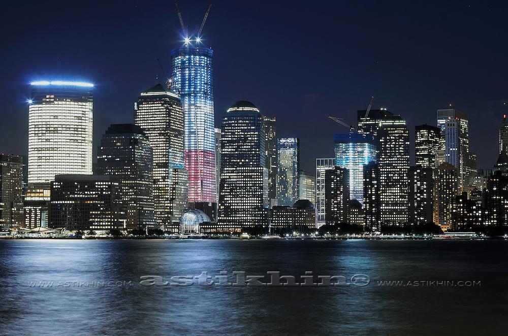 Night in Lover Manhattan, NYC. USA.