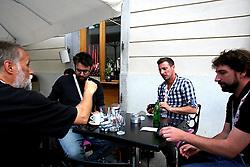 Ziga Zivulovic, Jaka Gasar, Damjan Zibert and Anze Petkovsek at Meeting of Slovenian best winter athletes with their fans after season 2014/15 on May 20, 2015 in Kongresni trg, Ljubljana, Slovenia. Photo by Matic Klansek Velej / Sportida