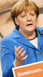 08.03.2016, Stadthalle K3N, Nuertingen, GER, Baden Wuerttemberg, Wahlkampf CDU, im Bild Bundeskanzlerin Angela Merkel (CDU) // during a campaign event for the Baden Wuerttemberg CDU (Christian Democratic Union) parliamentary elections in Stadthalle K3N in Nuertingen, Germany on 2016/03/08. EXPA Pictures © 2016, PhotoCredit: EXPA/ Eibner-Pressefoto/ Fudisch<br /> <br /> *****ATTENTION - OUT of GER*****