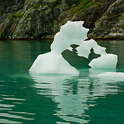 North America, United States, US, Northwest, Pacific Northwest, West, Alaska, Glacier Bay, Glacier Bay National Park, Glacier Bay NP. Ice sculptures floating in Glacier Bay, Glacier Bay National Park and Preserve, Alaska.
