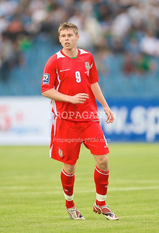 BAKU, AZERBAIJAN - Saturday, June 6, 2009: Wales' Simon Church in action against Azerbaijan during the 2010 FIFA World Cup Qualifying Group 4 match at the Tofig Bahramov Stadium. (Pic by David Rawcliffe/Propaganda)