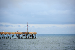 Ventura pier at Amgen Tour of California Women's Race empowered with SRAM 2019 - Team Presentation in Ventura, United States on May 15, 2019. Photo by Sean Robinson/velofocus.com